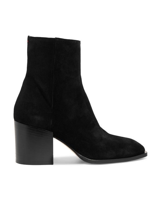 Aeyde - Black Leandra Suede Ankle Boots - Lyst