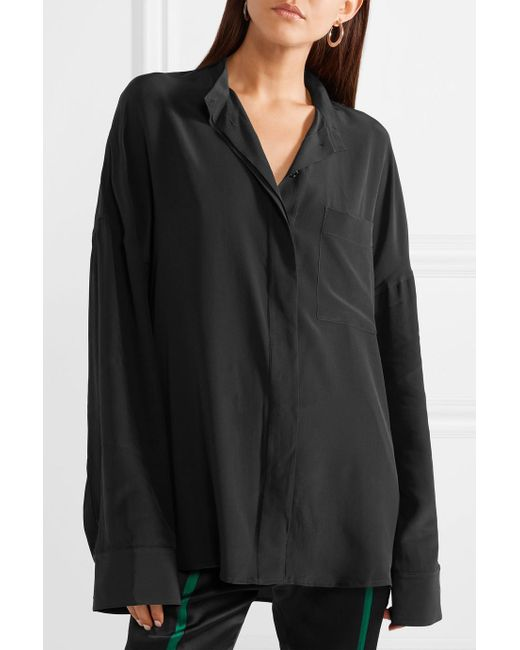 Cheap Buy Authentic Oversized Washed-silk Shirt - Black Haider Ackermann Big Discount Online Buy Cheap Purchase GCCwa9CAx