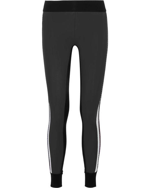 No Ka 'oi   Black Kuna Velvet-trimmed Color-block Stretch Leggings   Lyst