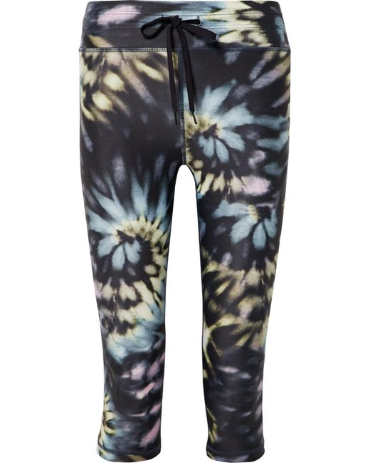 The Upside - Blue Power Cropped Tie-dyed Stretch Leggings - Lyst