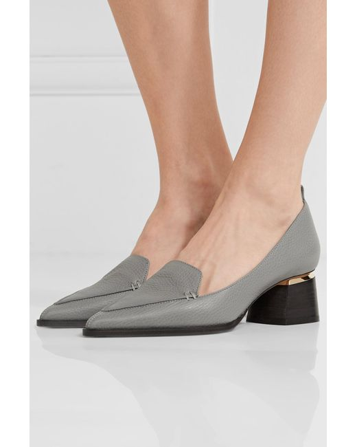 e2cfaee3e64 Lyst - Nicholas Kirkwood Beya Block Heel Pumps in Gray - Save 3%