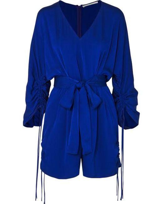 Stella McCartney Blue + Net Sustain Belted Crepe Playsuit