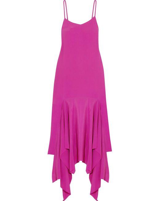 Solace London - Pink Wyatt Asymmetric Crepe Maxi Dress - Lyst