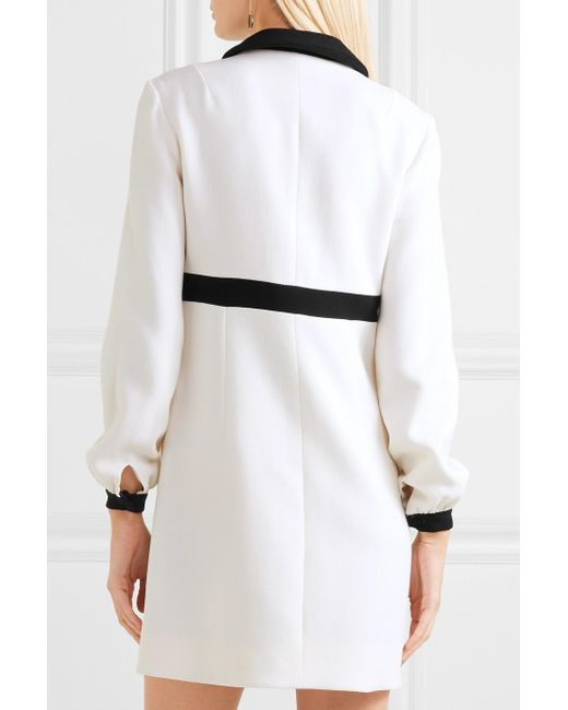 Tobias Two-tone Wool-crepe Mini Dress - Cream Emilia Wickstead esQAKTIOL