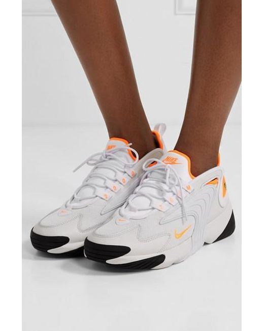 Women's Sneakers Neon White Zoom 2k And Mesh Trimmed Leather gb6f7Yy
