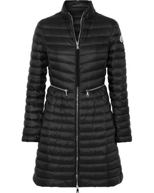Moncler Black Quilted Shell Down Coat