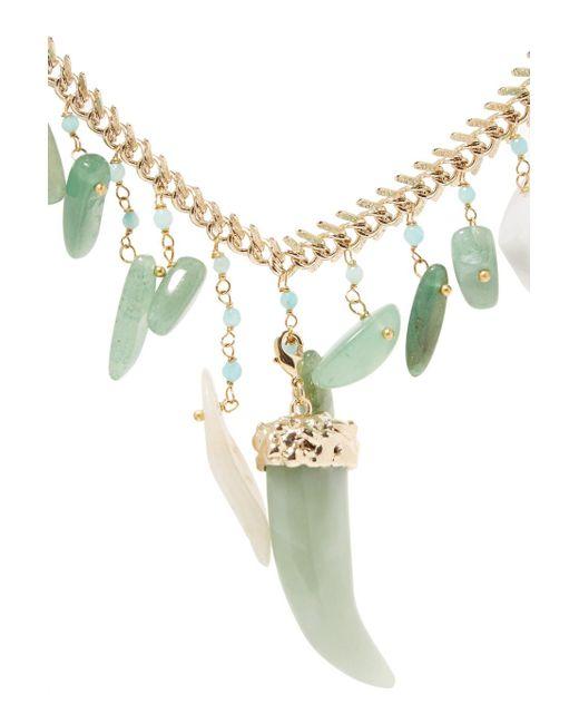 Perles Lisca Collier En Or-ton - Rosantica Vert BOzSOCd