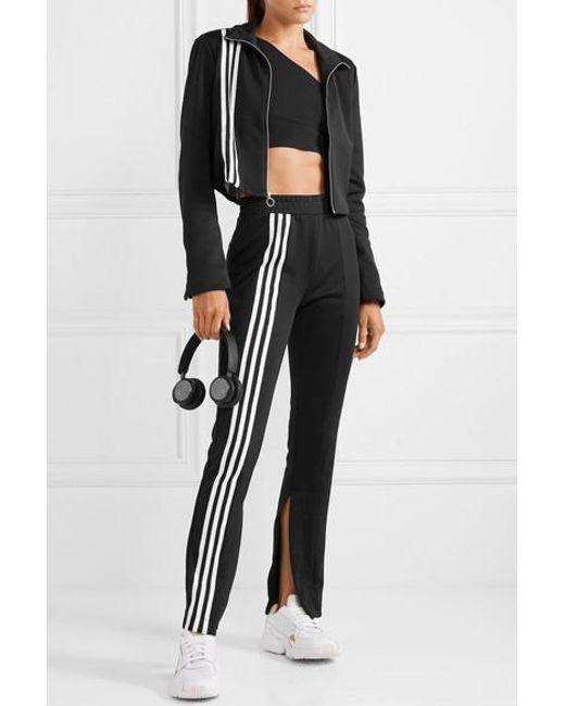Adidas Jacke weiß mit schwarzen Streifen