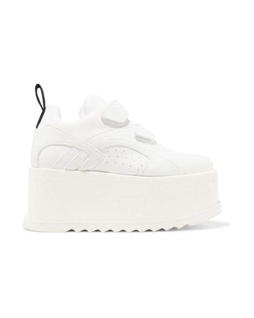 Stella McCartney White Polyurethane Sneakers