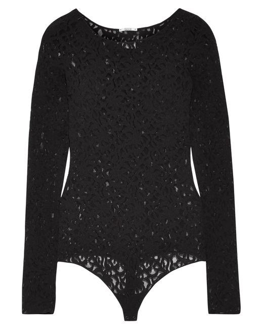 Wolford   Black Arabesque Stretch-lace Bodysuit   Lyst