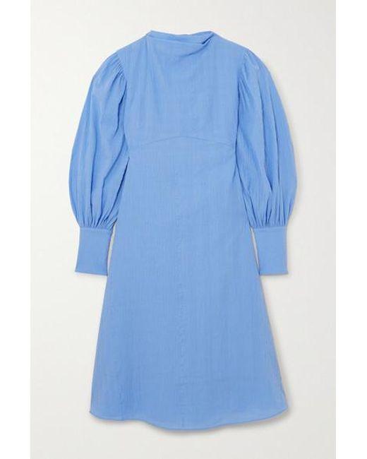 By Malene Birger Blue + Net Sustain Fleroya Kleid Aus Biobaumwolle In Knitteroptik