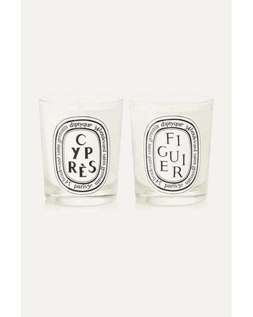 Diptyque Multicolor Figuier And Cyprès Set Of Two Scented Candles, 2 X 190g