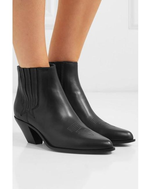 103636080eaa4 Golden Goose Deluxe Brand Sunset Leather Ankle Boots in Black - Lyst
