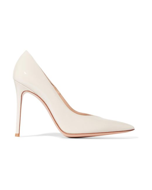 Gianvito Rossi | White Paris Patent-leather Pumps | Lyst