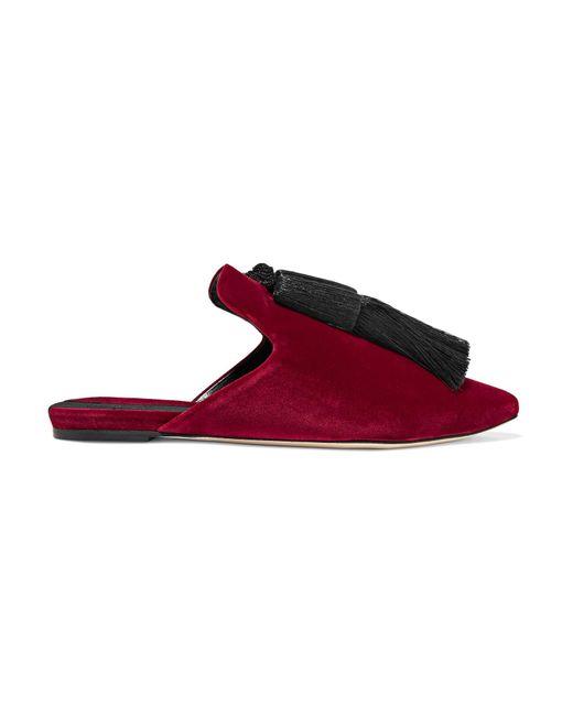 Sanayi 313 | Multicolor Racine Tasseled Velvet Slippers | Lyst