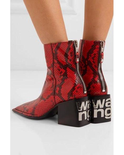 ALEXANDER WANG snakeskin pattern ankle boots的圖片搜尋結果
