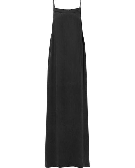 Kiki de Montparnasse - Black Amour Silk-charmeuse Maxi Dress - Lyst