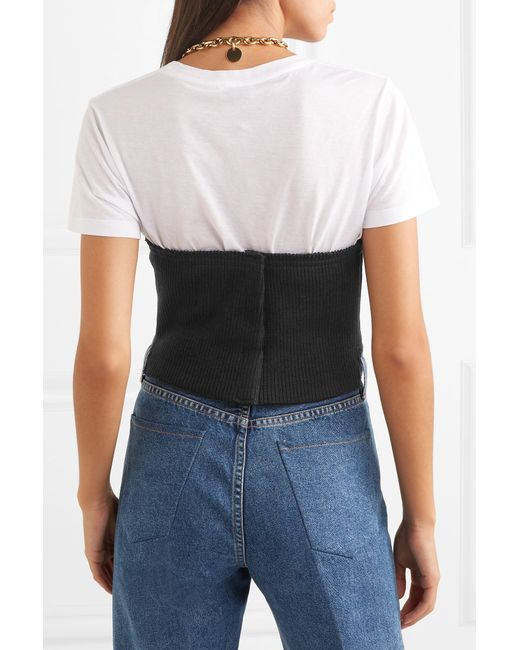 8fa3afef50 ... Orseund Iris - Black Ribbed-knit Corset - Lyst ...