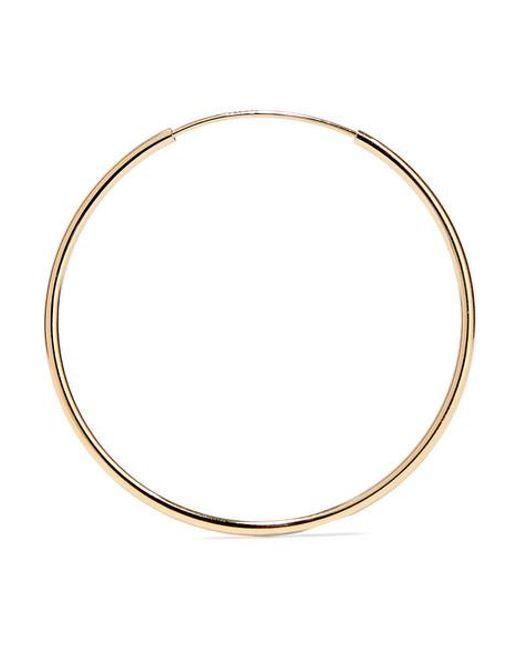 c3e0d3bc4 ... Loren Stewart - Metallic Infinity 14-karat Gold Hoop Earrings - Lyst ...