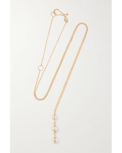 Melissa Joy Manning Metallic 14-karat Recycled Gold Pearl Necklace