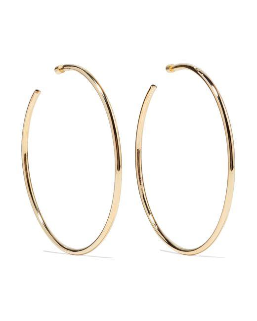 "Jennifer Fisher - Metallic Lilly 4"" Gold-plated Hoop Earrings - Lyst"