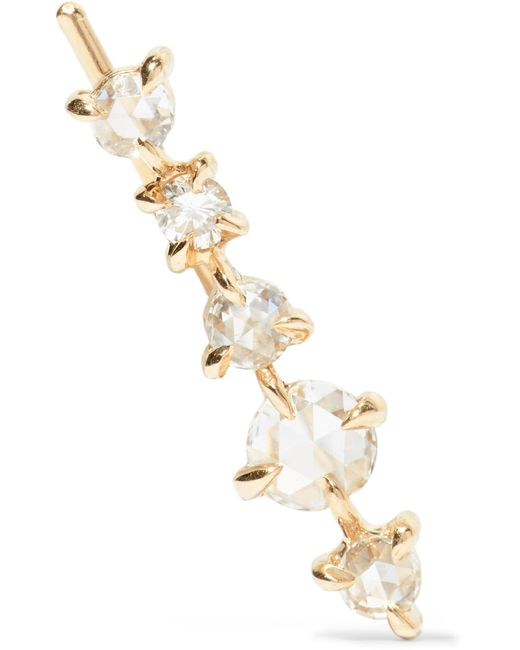 Catbird - Metallic Snow Queen Gold Diamond Earring - Lyst