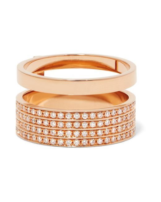 Repossi | Multicolor Berbère 18-karat Rose Gold Diamond Ring | Lyst