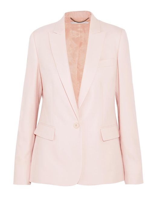 Stella McCartney | Pink Ingrid Wool-piqué Blazer | Lyst