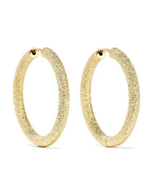 Carolina Bucci Metallic 18-karat Gold Hoop Earrings