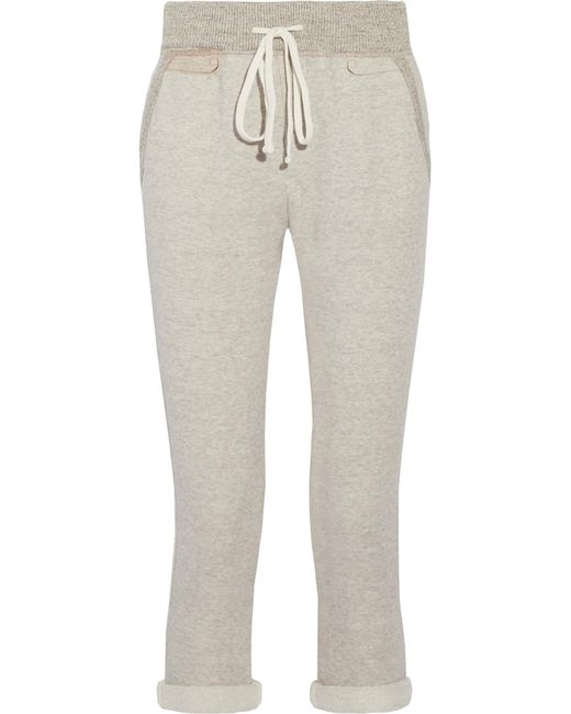 James Perse | Gray Cotton-blend Terry Track Pants | Lyst