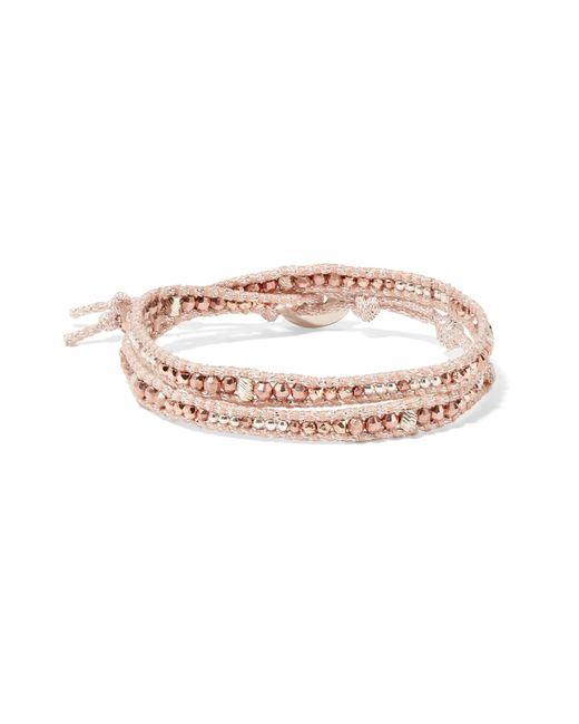 Chan Luu - Metallic Gold And Silver-tone Beaded Wrap Bracelet - Lyst