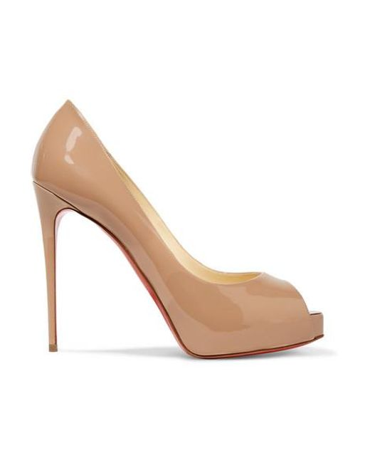 Christian Louboutin Natural New Very Prive 120 Patent-leather Platform Pumps