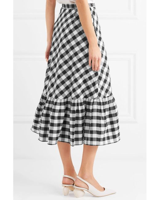 Glo Ruffled Gingham Cotton-poplin Wrap Skirt - Black J.crew Cheap Sale Exclusive 100% Authentic Online SkADLbj6s
