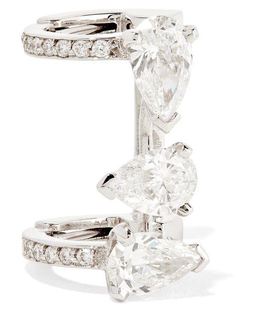 Repossi - Multicolor Serti Sur Vide 18-karat White Gold Diamond Ear Cuff - Lyst
