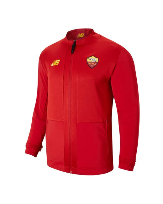 New Balance Red As Roma Pre-game Jacket for men
