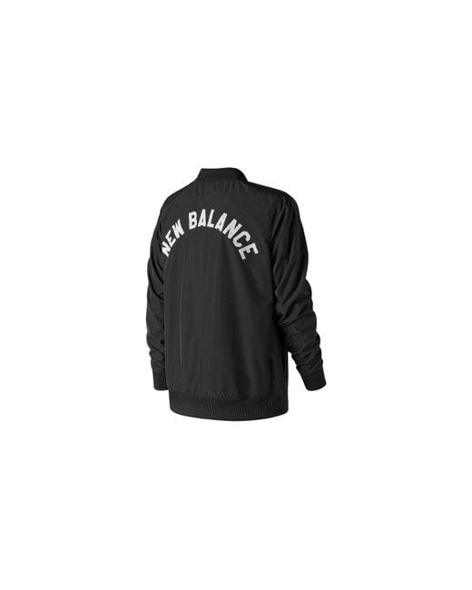 New Balance Black Damen Coaches Jacke