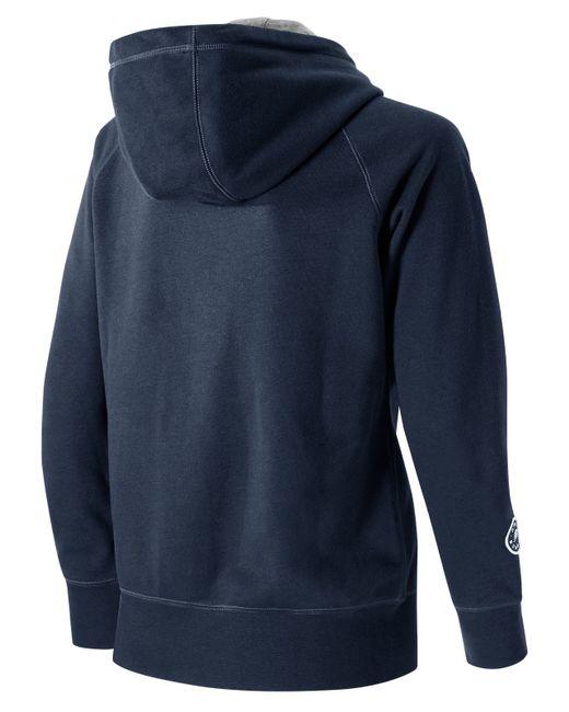 new balance essentials plus full zip fleece hoodie. Black Bedroom Furniture Sets. Home Design Ideas