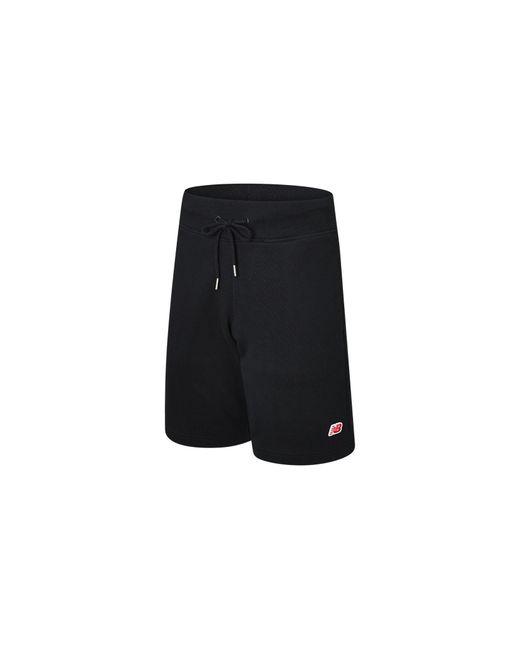 New Balance Herren Small NB Pack Sweat Short in Black für Herren