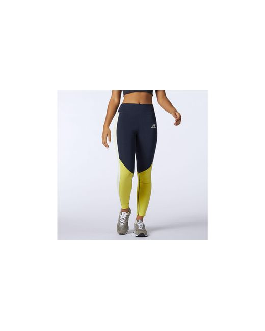 New Balance Blue Nb Athletics Piping Legging