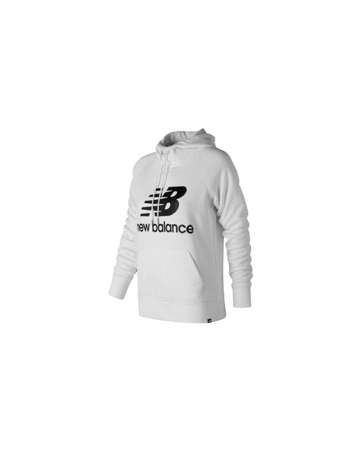 Essentials Pullover Hoodie New Balance de color White