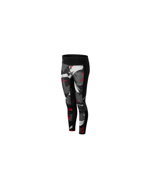 Legging LDN Printed Impact New Balance en coloris Black