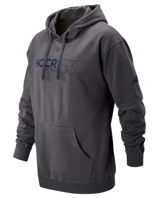 New Balance - Gray Hocr Hooded Pullover for Men - Lyst
