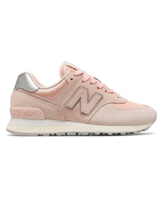 Women's Metallic New Balance 574 Sateen Tab Shoes