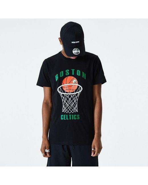 newera Black Boston Celtics Basketball T-shirt for men