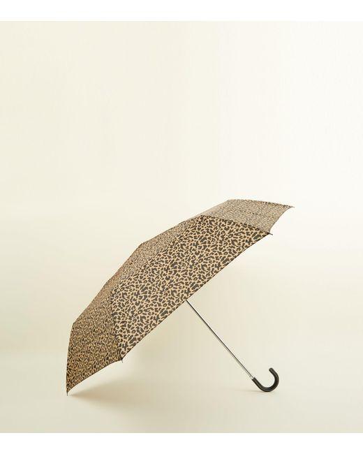 New Look - Natural Leopard Print Hook Handle Umbrella - Lyst