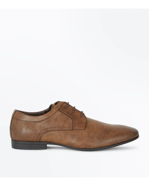 New Look | Brown Lace Up Gibson Shoes for Men | Lyst