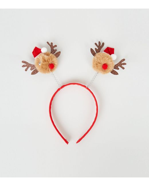 New Look Multicolor Multicoloured Christmas Reindeer Bopper Headband