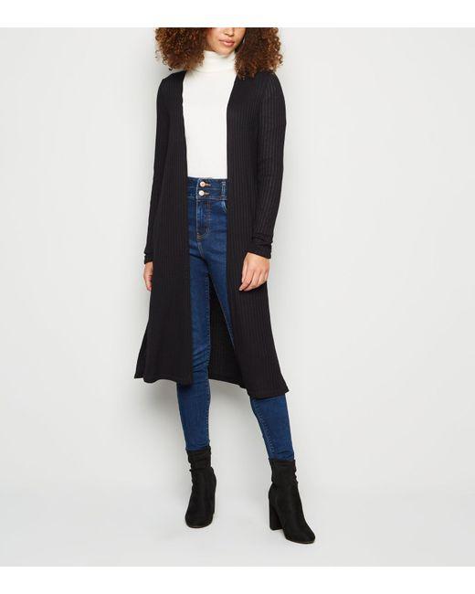 New Look Black Fine Knit Midi Cardigan