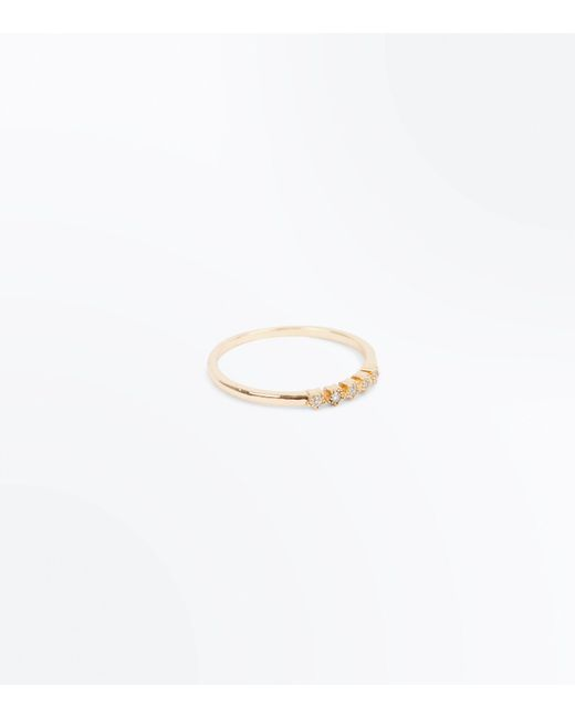 New Look | Metallic Gold Mini Star Embellished Ring | Lyst
