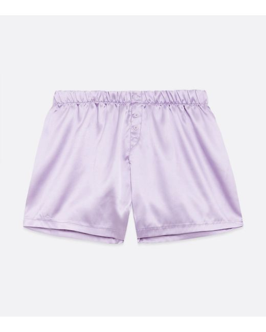 New Look Purple Lilac Satin Boxers for men
